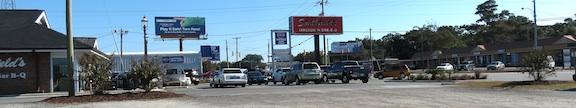 The parking lot at Smithfield's