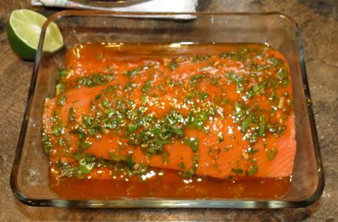 salmon w/ charmoula