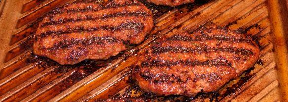 Kofta patties on the grill