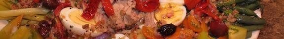 Salad Nicoise detail