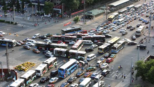Aerial shot of Beijing traffic courtesy of Google