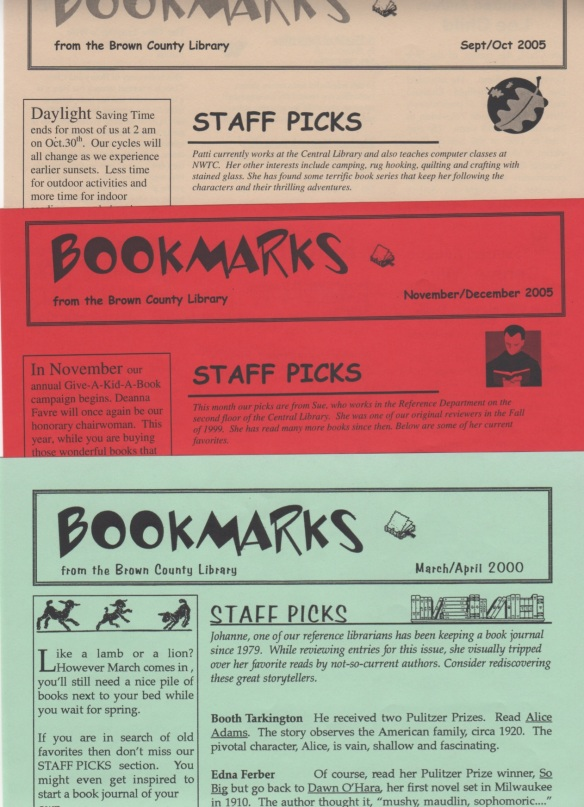 Three BOOKMARKS newsletters