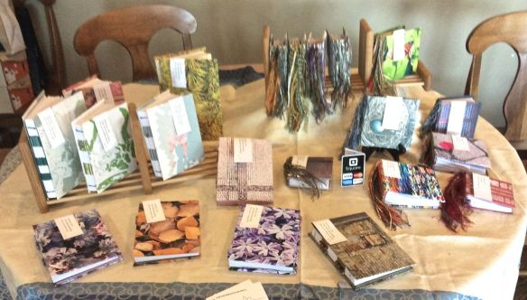 My table of journals in July at Alpha Delights